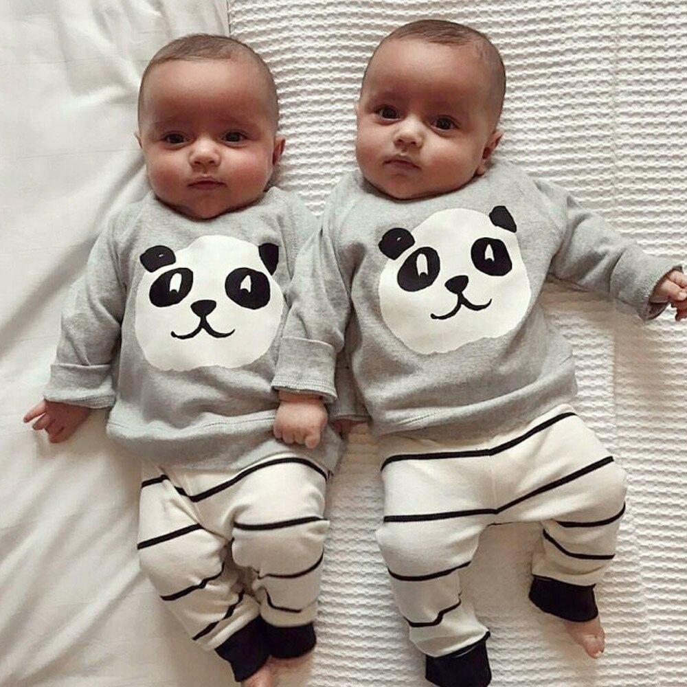 5Stücke//Set Neugeborenen Baumwollhemd Hosen Jungen Baby Mädchen Outfits Kleidung