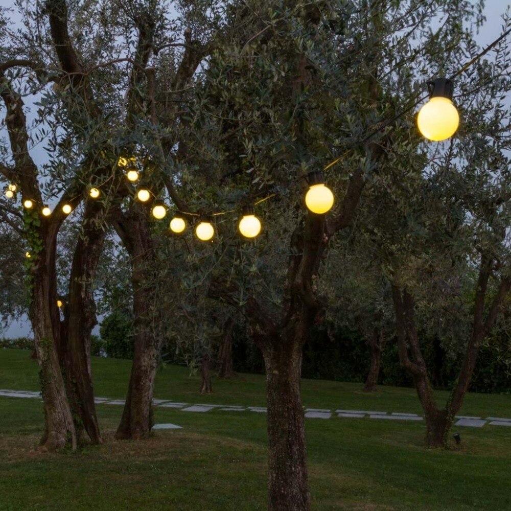 Novelty 5CM big size 38 ball 10M LED String Black wire LED Starry Lights Christmas Wedding indoor outdoor Decor String Lighting