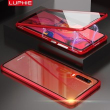 Luphie Anti-peep Magnetic Tempered Glass Case for Huawei P30 Pro Front+Back Double Side Coque Magnet Cover Fundas
