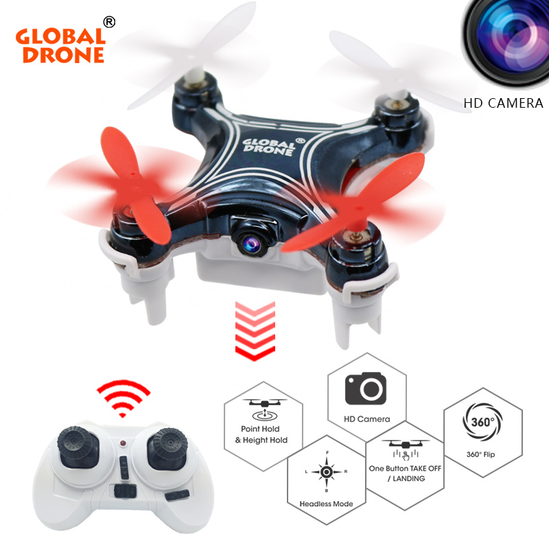 Global Drone GW009C-1 Mini Drone with Camera HD Quadcopter Altitude Hold RC Helicopter Headless Mode Drones Quadrocopter VS H36