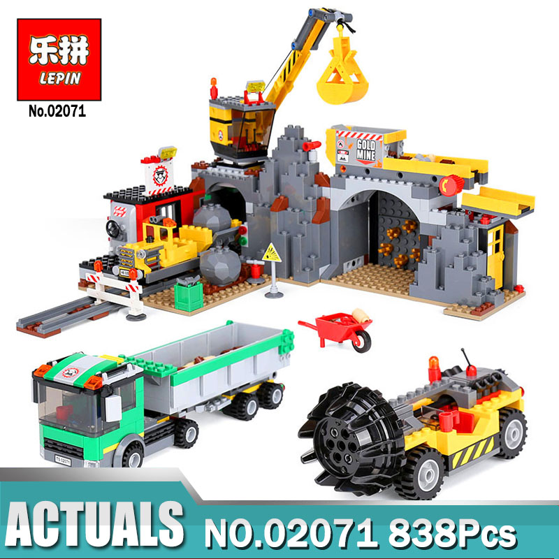 Lepin 02071 838Pcs The City Mine Set Compatible Legoing 4204 City Series Building Blocks Brick Toys As Kids Christmas Gifts lepin 15018 3196pcs creator city series sunshine hotel model building kits brick toy compatible christmas gifts