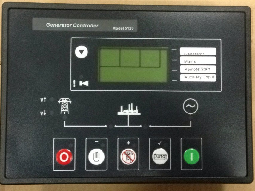 Deep Sea Generator Controller 5120,Auto Start Control Module, with PC connector,Use P810 cable and software connect computer free shipping deep sea generator set controller module p5110 generator control panel replace dse5110