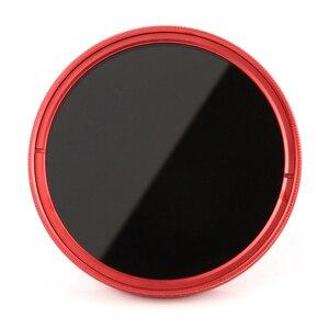 Image 3 - FOTGA ультра тонкий 40,5 82 мм фейдер Регулируемый ND фильтр объектива ND2 ND8 ND400 красный