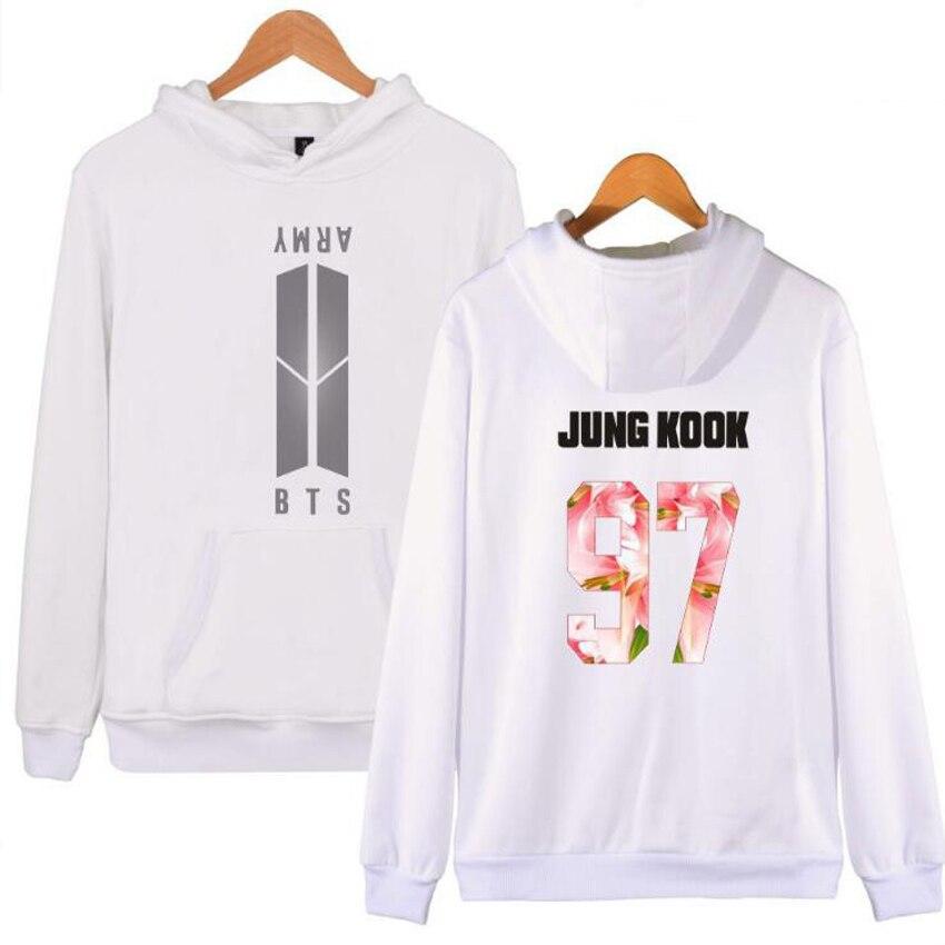 BTS Kpop Moletom Hip Hop Hoodie Women Men Popular Bangtan Boys Harajuku Sweatshirt Streetwear Korean Pullover BTS Clothing