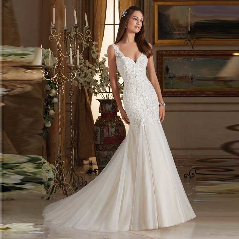 Wedding Gown On Sale: Hot Sale 2017 Newest Fancy Full Appliques Wedding Dresses
