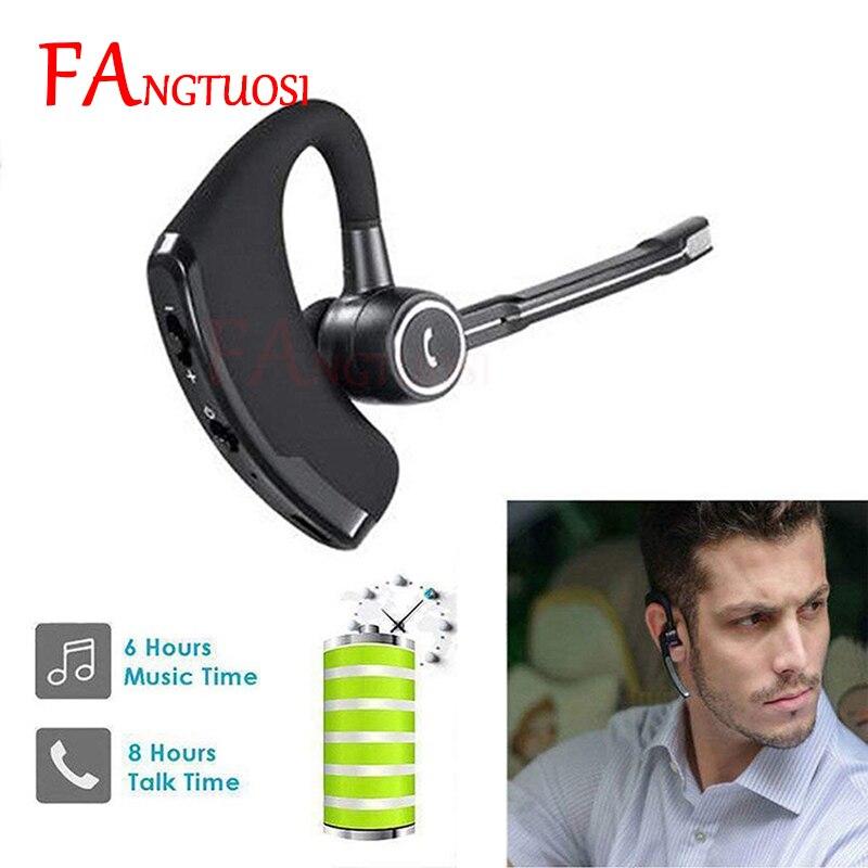 FANGTUOSI Business Bluetooth Headset Car Bluetooth Earpiece Hands Free With Mic Ear-hook Bluetooth Wireless Earphone For IPhone