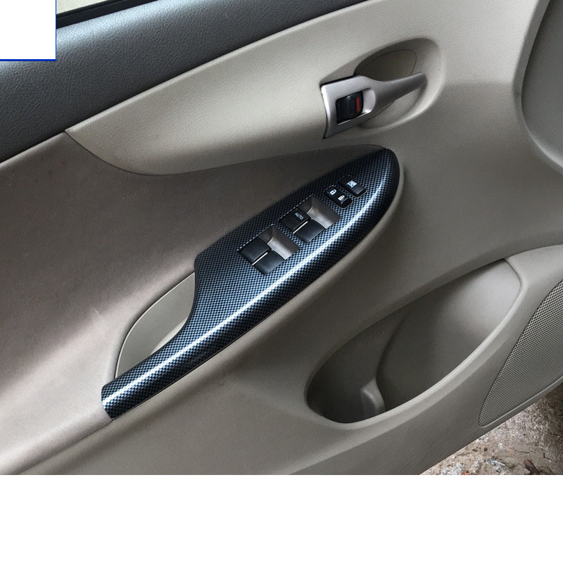 Lsrtw2017 abs voiture fenêtre panneau de configuration garnitures pour toyota corolla 2006 2007 2008 2009 2010 2012 2011 2013 E140