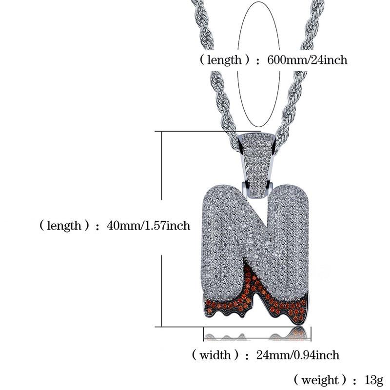 bubble letter necklace60