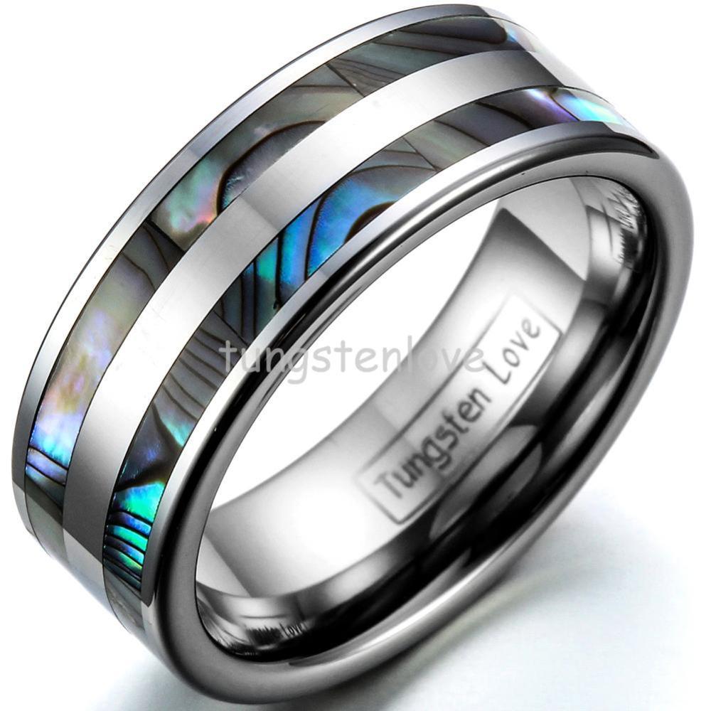 BONISKISS High Polish Tungsten Engagement Rings Set med Double - Märkessmycken - Foto 4