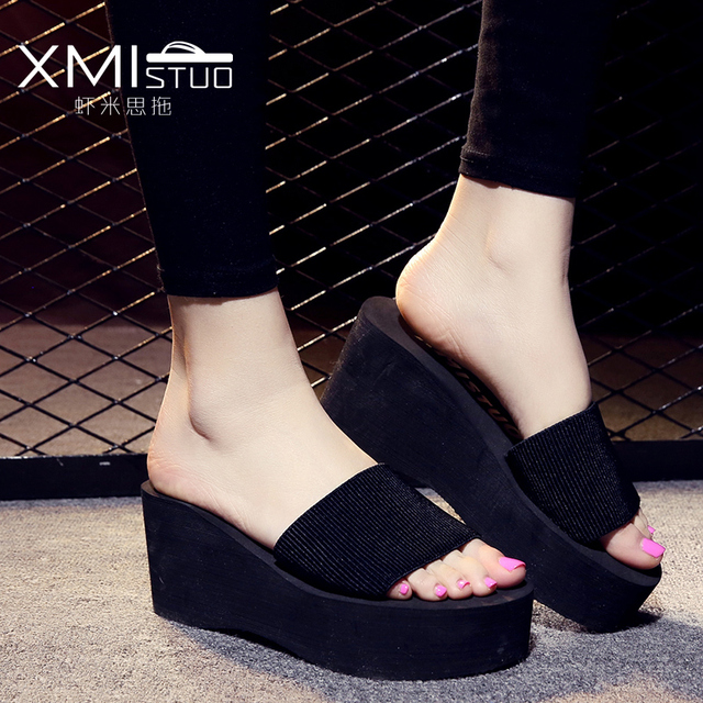 2017 women Summer Beach Shoes Women Platform Sandals Wedges Woman Slippers Summer Shoes Sandals Ladies Slippers Leopard
