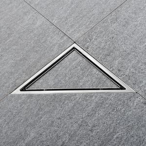 Image 2 - 三角形に見えない床ドレンバルコニー浴室コーナー床ドレン消臭非表示の型タイル挿入シャワー排水高速排水