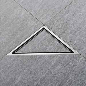 Image 2 - Triangle Invisible Floor Drain Balcony Bathroom Corner Floor Drain Deodorant Hidden Type Tile Insert Shower Drain Fast Drainage