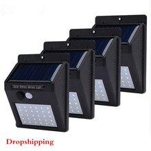 30 светодиодный светильник на солнечной батарее 4 шт. наружный солнечный светильник PIR датчик движения настенный светильник водонепроницаемый солнечный светильник s для садовых дорожек