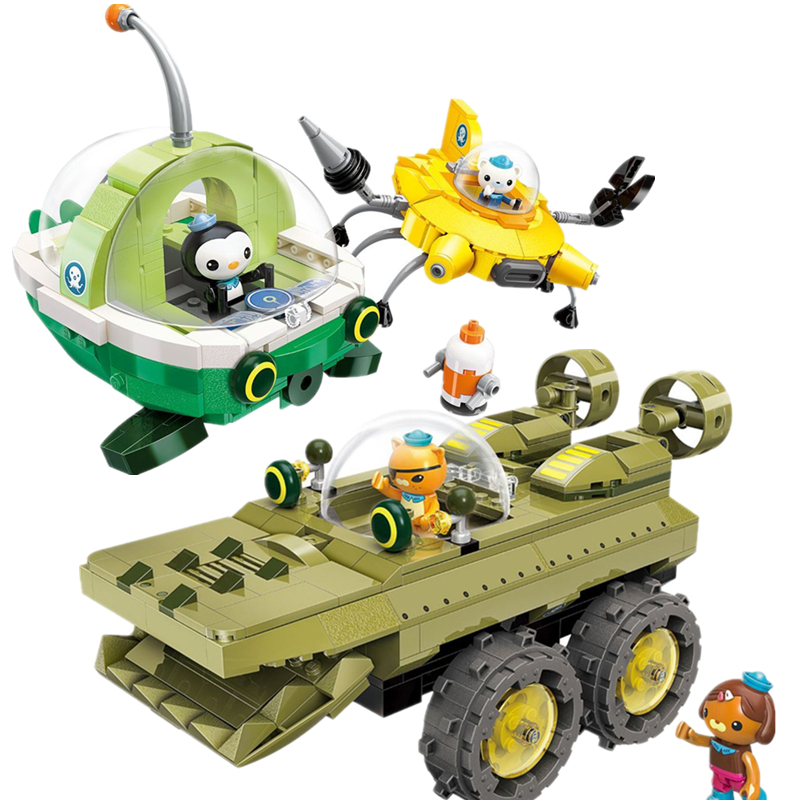 NEW ENLIGHTEN Creator Ideas GUP-K Crocodile Rescue Ship Octonauts Building Blocks Model Sets Kids Kits Toys Compatible Duplo