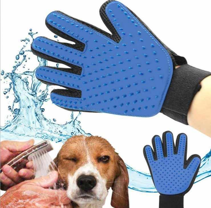 Silicone pet brush Glove Deshedding Gentle Efficient Pet Grooming Dogs Bath Pet cleaning Supplies Pet Dog Accessories