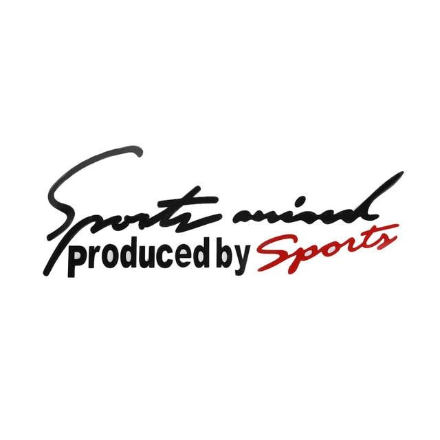 1 piezas de estilo deportivo carta 3D coche etiqueta engomada emblema distintivo adhesivo Auto accesorios de automóviles Bonnet etiqueta coche-estilo