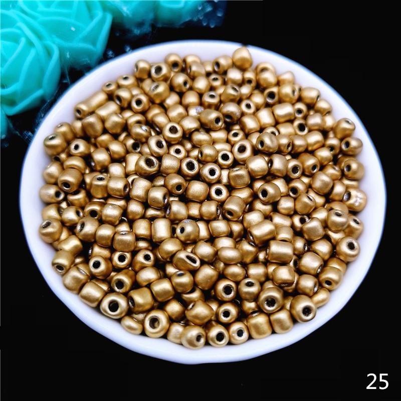 2 мм 3 мм 4 мм Чешский бисер хрустальный стеклянный бисер для изготовления ювелирных изделий серьги ожерелье браслет Подвески ручной работы сделай сам - Цвет: 25