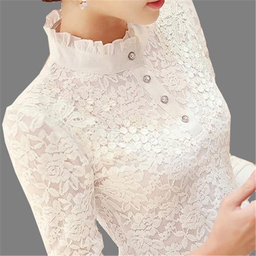f760e3d1ba70be6 Новые осенне-зимние женские рубашки больших размеров из плотного бархата  тонкие кружевные блузки Универсальные женские