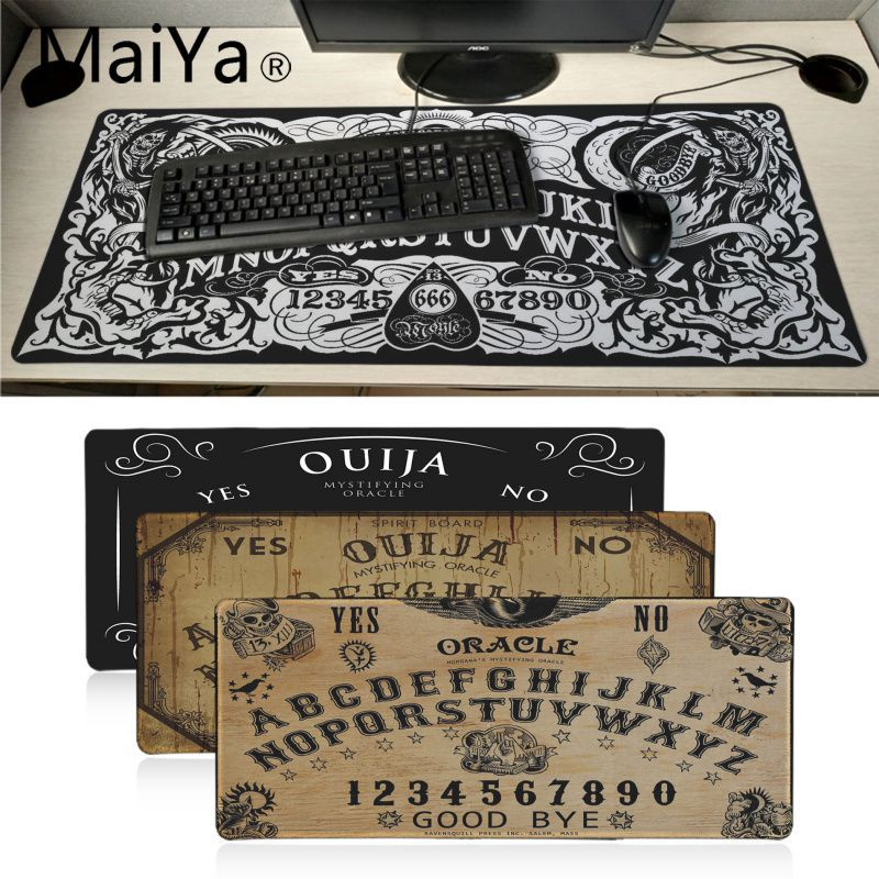 Maiyaca Ouija Board Rubber Mouse Durable Desktop Mousepad 700*300mm Gaming Mouse Pad Speed Keyboard Mouse Mat Laptop Desk Pad