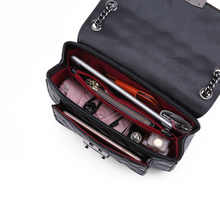 GIAEVVI Designer Luxury Handbag Women Messenger Chain Bag Genuine Leather Handbags Shoulder Bags Crossbody for Lady Grid Pattern