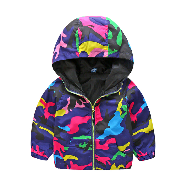 New Arrival Spring/Autumn Boy and Girls Outwear Children's Camouflage Hooded Jackets Handsome Kid Long Sleeve Windbreaker CMB319