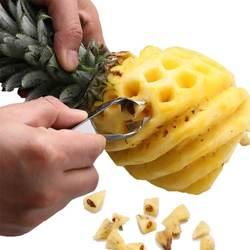 Peeling Pineapple Knife Tool Pineapple Peeler Coupe Ananas Acier Clip Cut Fruit Artifact