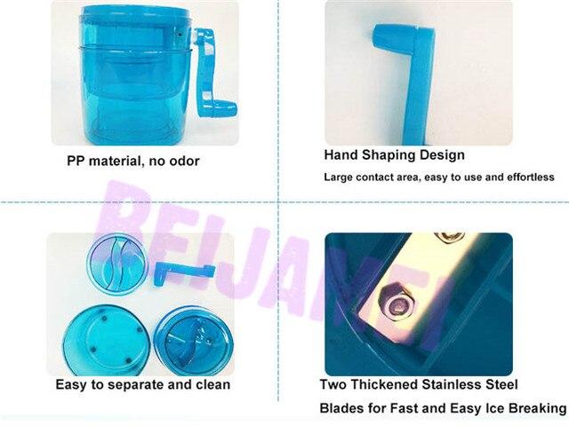 BEIJAMEI 2020 New Hand Crank Manual Ice Crusher Shaver Small Snow Cone Maker Machine Household Kitchen Tool