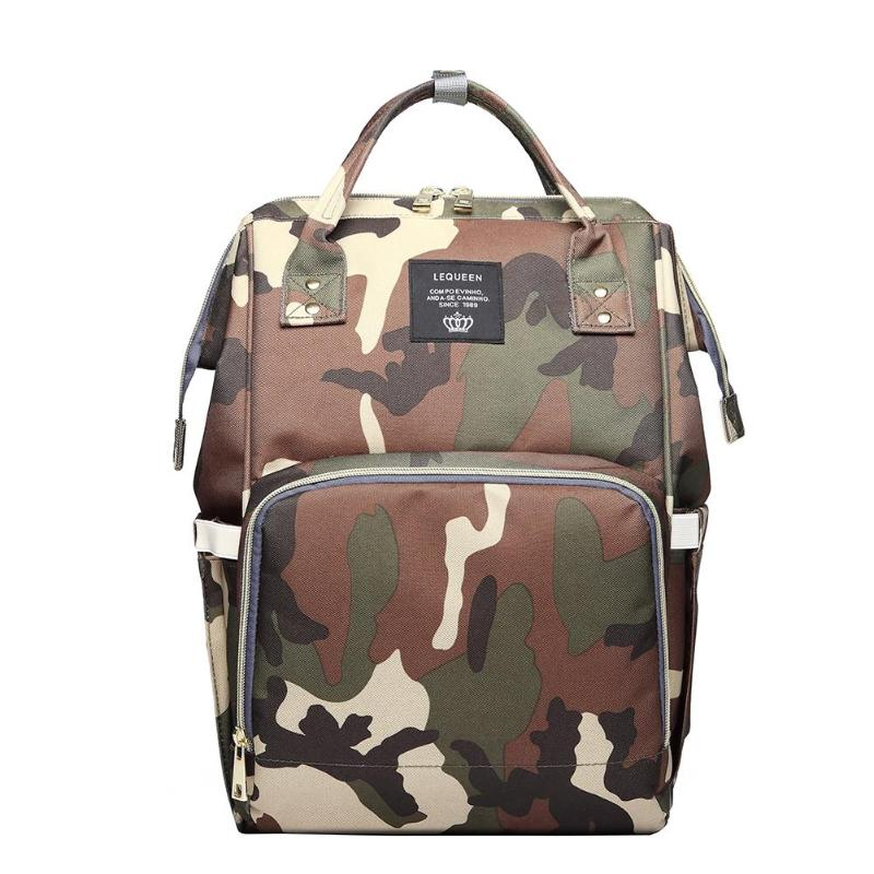 Lequeen Waterproof Mummy Diaper Bags Camo Print Backpack Large Capacity Baby Care Bag Ny In From Mother Kids On