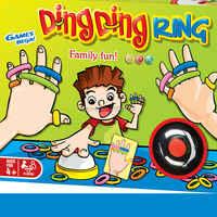Familie Spaß Ding Ding Ring Lustige Party Spiele mit 24 stücke bild karten 60 stücke Haar Ringe und 1 Glocke für 2-6 spieler