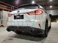 Автомобиль Стайлинг для Lexus RX200T Углеродного Волокна TR Стиль сзади губ глянцевый Fibre комплект Диффузор тела Гонки Авто Бампер аксессуары отд