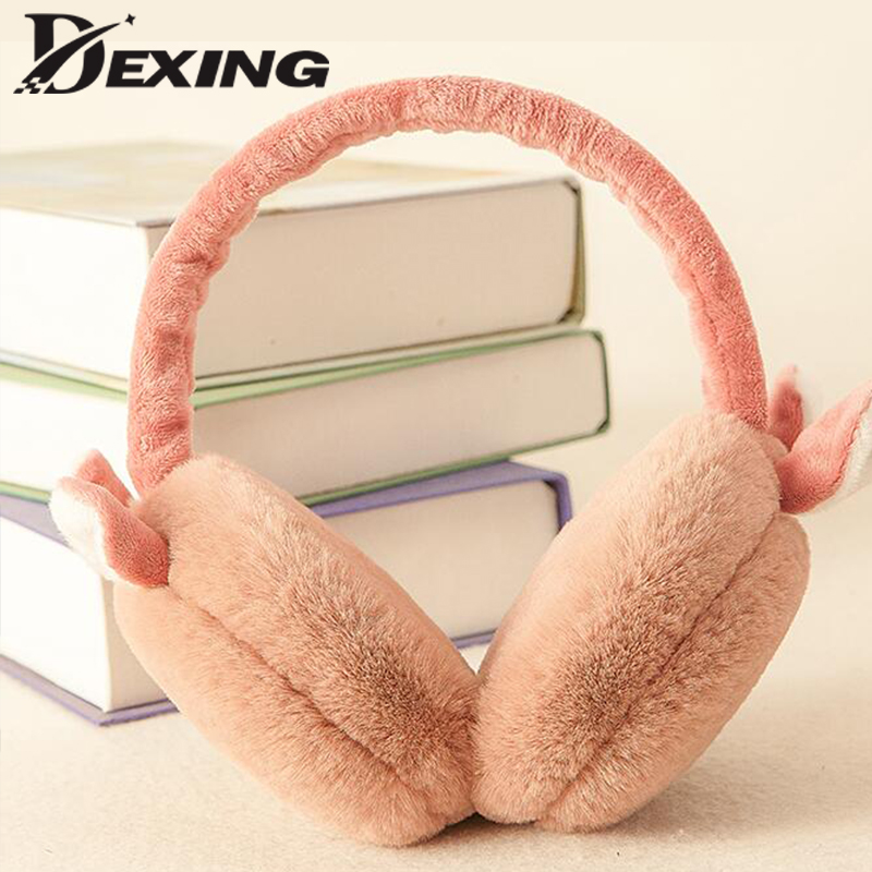 Child Ear Muffs Fashion Winter Lovely Thicken Plush Children Foldable Earmuffs New High Quality Solid Color Kids Ear Warmer