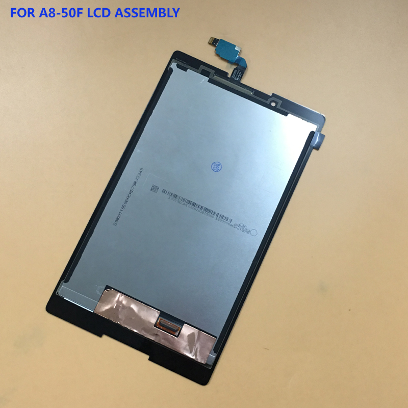 For Lenovo Tab 2 A8-50F A8-50LC A8-50 Black / White Full Touch Screen Glass Sensor + LCD Display Panel Monitor Module Assembly new 8 inch for lenovo tab 2 a8 50f tab2 a8 50lc a8 50 tablet pc touch screen lcd display assembly parts case free shipping