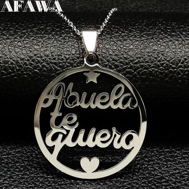 2019 جدة الفولاذ المقاوم للصدأ بيان قلادة المرأة مجوهرات الفضة اللون قلائد مجوهرات نافيداد N18021