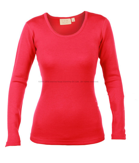 Women s Expedition weight crew mid layer 100 pure fine merino wool tops warm clothing winter