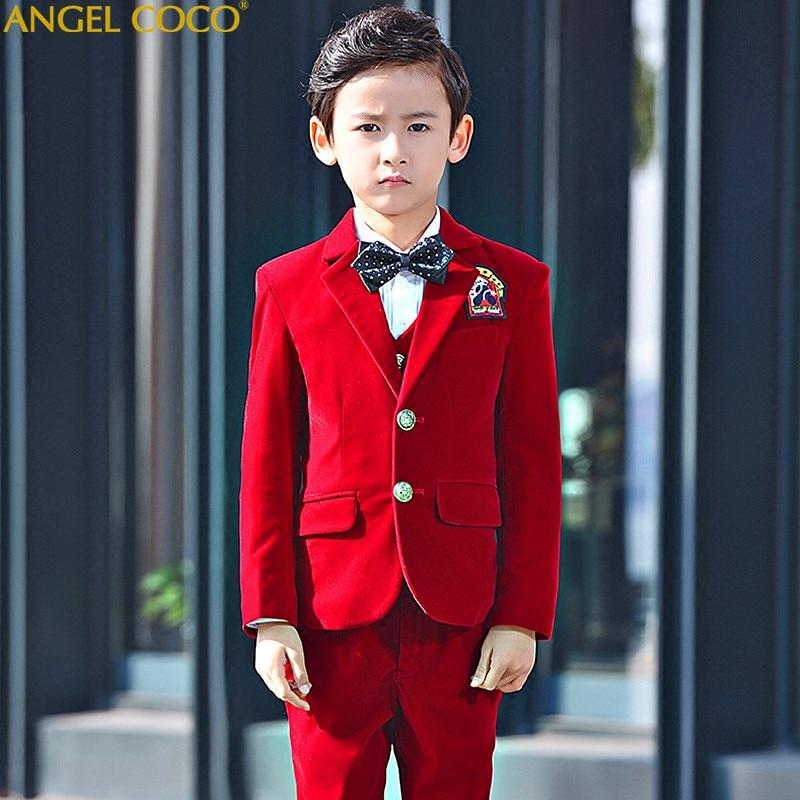 Boys Suits For Weddings Kids Prom Suits Royal Blue Wedding Suits For Boys Tuxedo Children Clothing Boy Formal Costume Garcon ель новогодняя с украшением h 75см упаковочный пакет