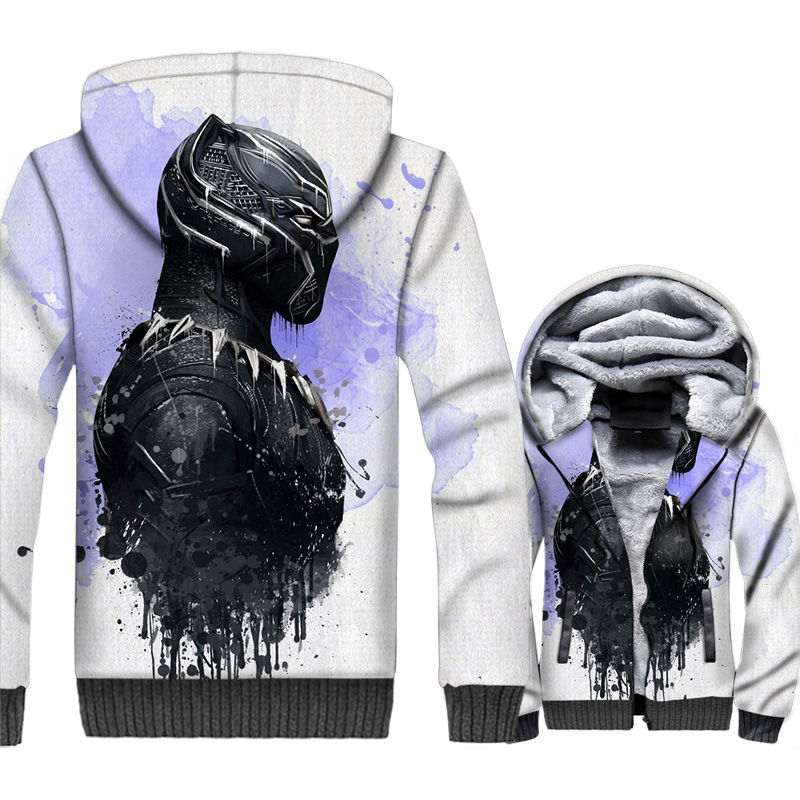 New The Avengers Jacket 3D Print Movie Hoodie Men Casual Hooded Sweatshirt 2018 New Brand Winter Thick Fleece Zipper Coat