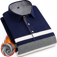 winter thick thermal smart casual Shirt Men Plus Size 4XL Brand Mens pullover Shirt Male dress Shirt Mens tops Shirts with velet