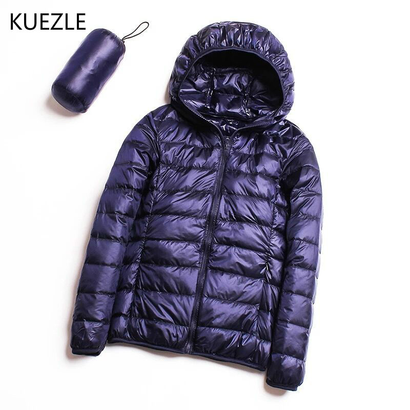 Women's new fashion thin autumn hooded   Down     Coats   2018 Korean version of the self-cultivation winter   coat   jackets Female top 4XL