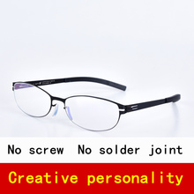 205c7d42fac Screwless Stainless Round Eyewear Business Style Glasses Frame for Women  Light weight Optical Eyeglasses with No