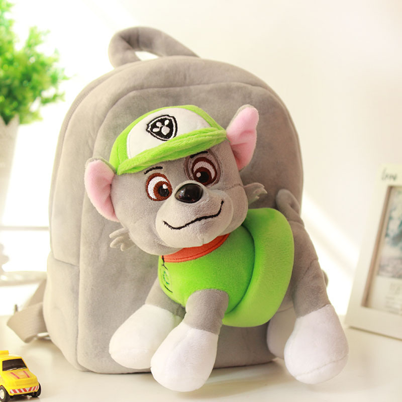 Paw Patrol Dog Cartoon Plush Backpack Chase Doll Separable Small School Bag Soft Harmless Children Action Figures Multiple Style
