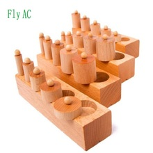 Fly AC Montessori Wooden Cylinder Socket Family Pack Early L