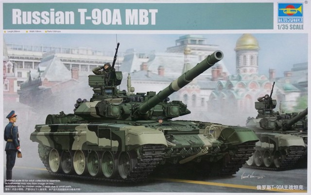 1:35 trumpet hand 05562 Russian T-90A main battle tank model Assembly model