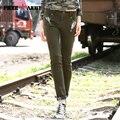 Free Army Pants Model Women Pants Casual Fitness Ladies British Style Cotton Slim Army Green Women Winter Sweatpants Gk-920