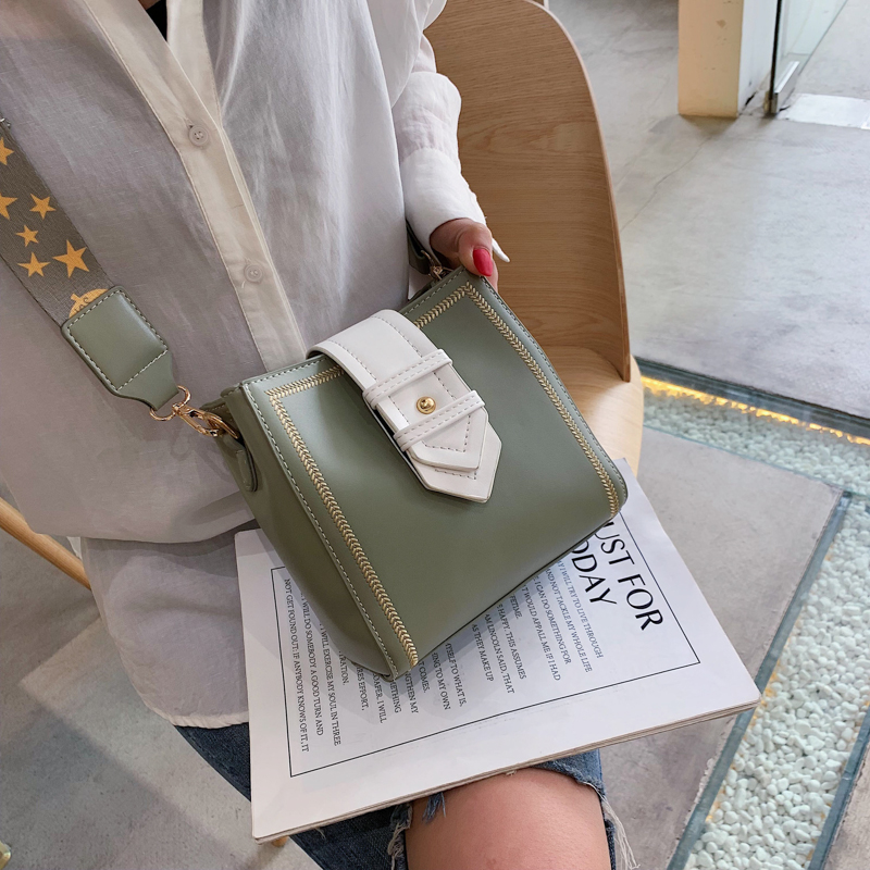 MONNET CAUTHY New Arrivals Bags for Women Concise Leisure Occident Fashion Crossbody Bag Solid Color Green Black White Bucket in Top Handle Bags from Luggage Bags