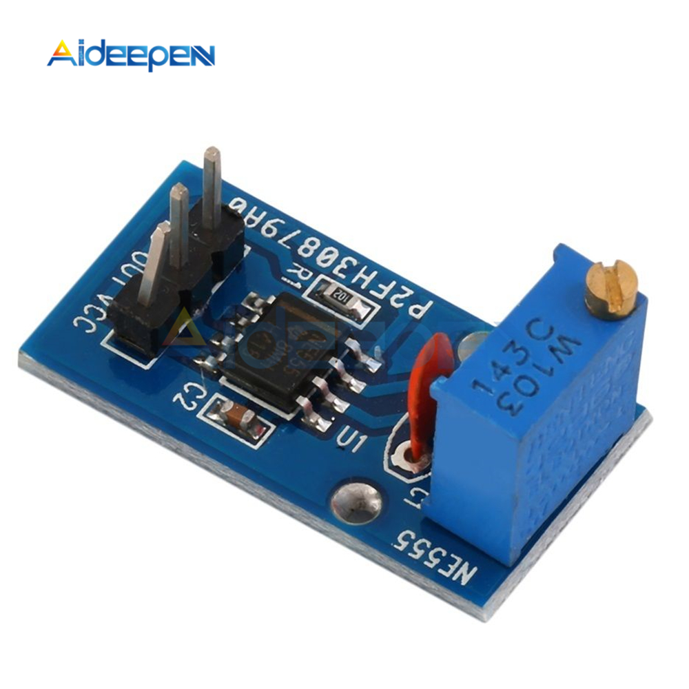 10Pcs NE555 Adjustable Resistance Frequency Pulse Generator Module Single Channel Output Module 5V-12V for Arduino Smart Car 2