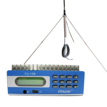 FU-15B CZE-15B 0W-15W PREMIUM Professional PC Control FM radio station +GP100 antenna +power supply+ audio cable