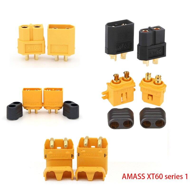 Коннектор AMASS 10 шт. XT60 XT-60 XT 60 XT90 XT60H XT60L XT60U XT60PW XT30U XT90S T Дин EC3 EC5 AS150 XT150 XT30PW XT90PW для Lipo Батарея