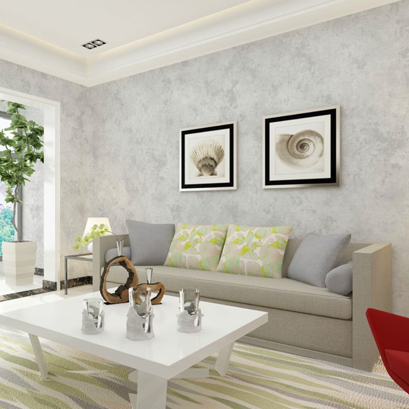 Non - woven Wallpaper Pure Grey Marble Home Study Meeting Bedroom Television Background Wall Paper 53CMx9.5M Papel De Parede