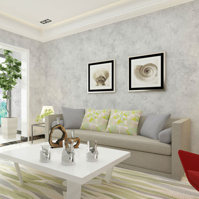 Tapeten Youman Vlies Tapete Reines Grau Marmor Hause Studie Treffen Schlafzimmer  Fernseher Hintergrund Wand Papier 53