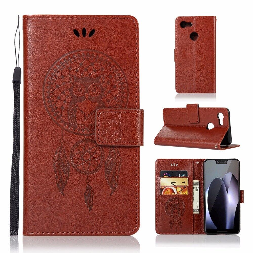 For Google Pixel 3 XL 3XL XL3 Luxury Skin Flip Leather Wallet Case For Google Pixel 3 Pixel3 3D Owl Protection Phone Cover Funda
